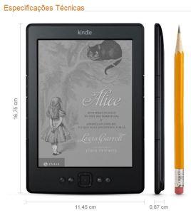 Kindle que estará disponível para venda aqui no Brasil