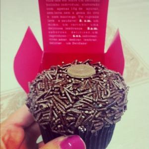 Cupcake da Delicake, para quem não está fazendo a Dukan
