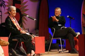 Nadine Gordimer e Amós Oz na Flip de 2007. Foto divulgação.