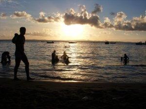 A linda Praia do Porto da Barra, em Salvador